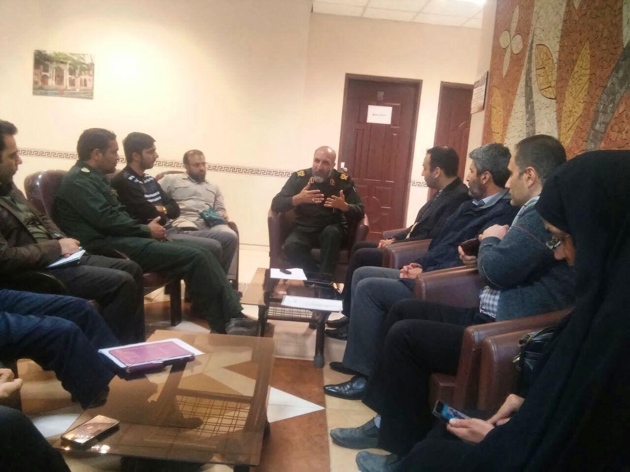 نشست مشترک ستاد مسکن مددجویان بهزیستی با رئيس سازمان بسیج
